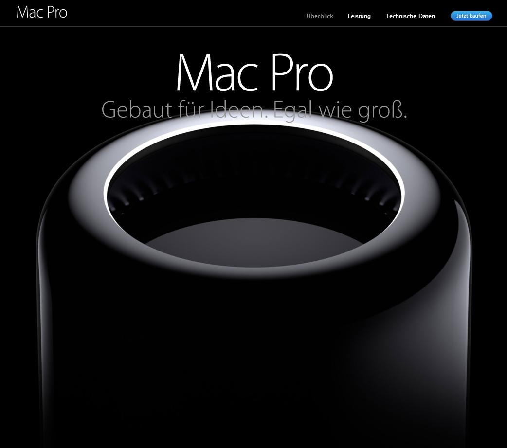 Scrollytelling Apple MacPro Scollbereich 1 - Startseite