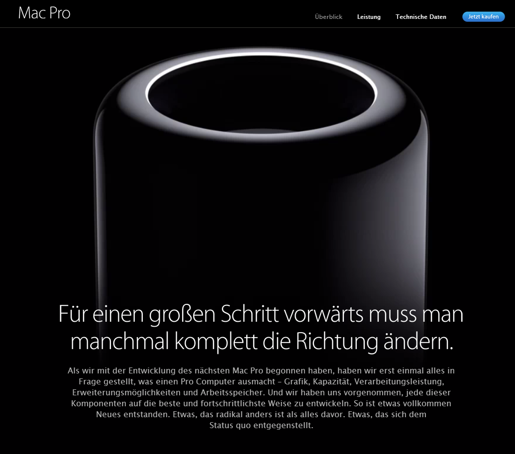 Scrollytelling Apple MacPro Scollbereich 2