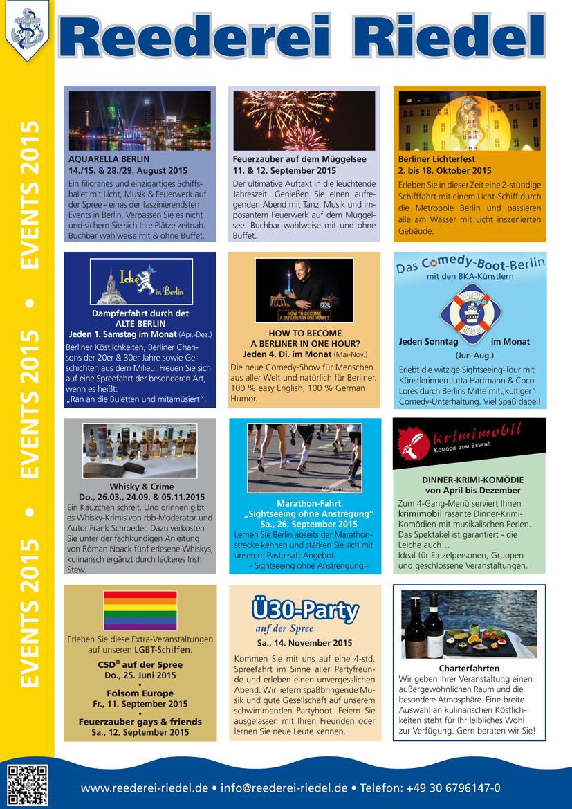 SpreeDaily Ausgabe 60 Unsere Veranstaltungen 2015