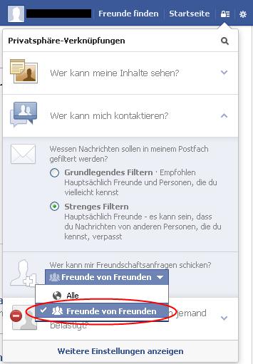 Social Privacy Checklist 2013 Der Beobachter Wer kann mir Freundschaftsanfragen schicken?