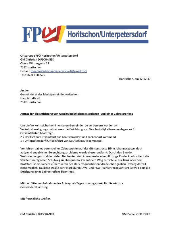 FPÖ Gemeindekurier 01/2018 Aus dem Gemeinderat